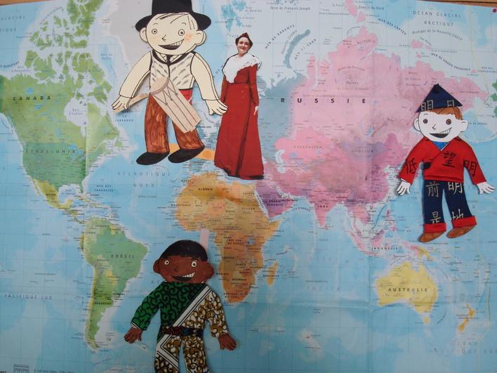 Voyage aux 4 coins du monde avec Lucas aplati