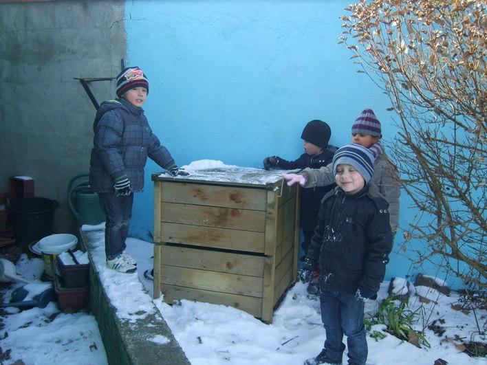 Un composteur dans la cour de l'école !